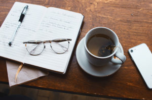 Notes and glasses