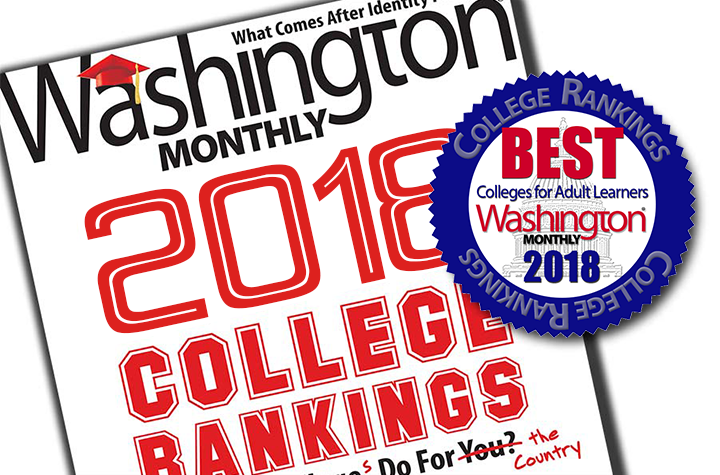 Best Colleges for Adult Learners, Washington Monthly 2018