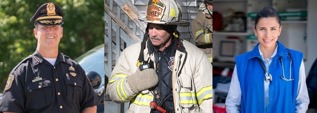 First responders earning a degree at Granite State College.